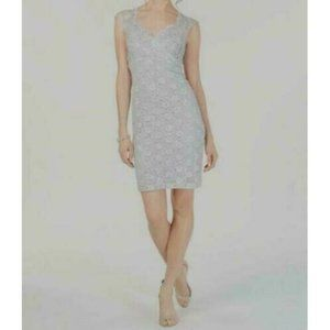 Connected Lace Sequin Sweetheart Sheath Dress